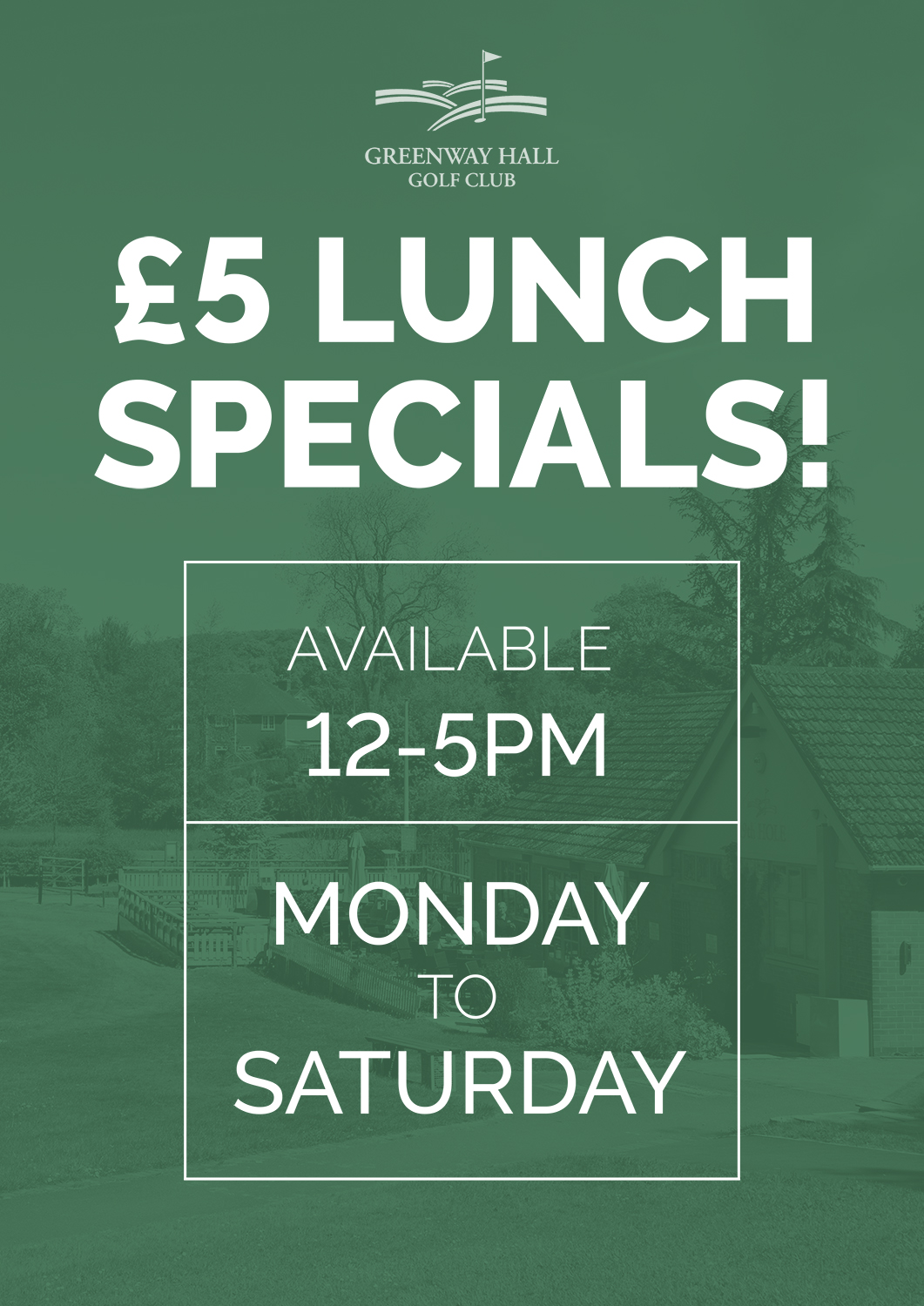Our £5 lunch offer available throughout January