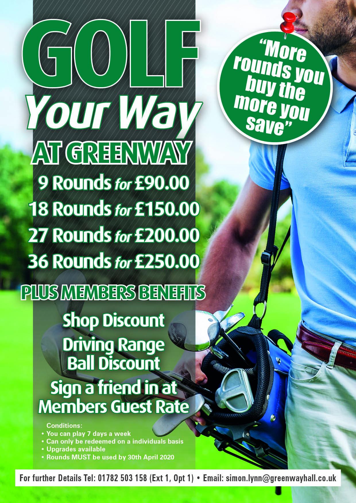 Golf your Way at Greenway