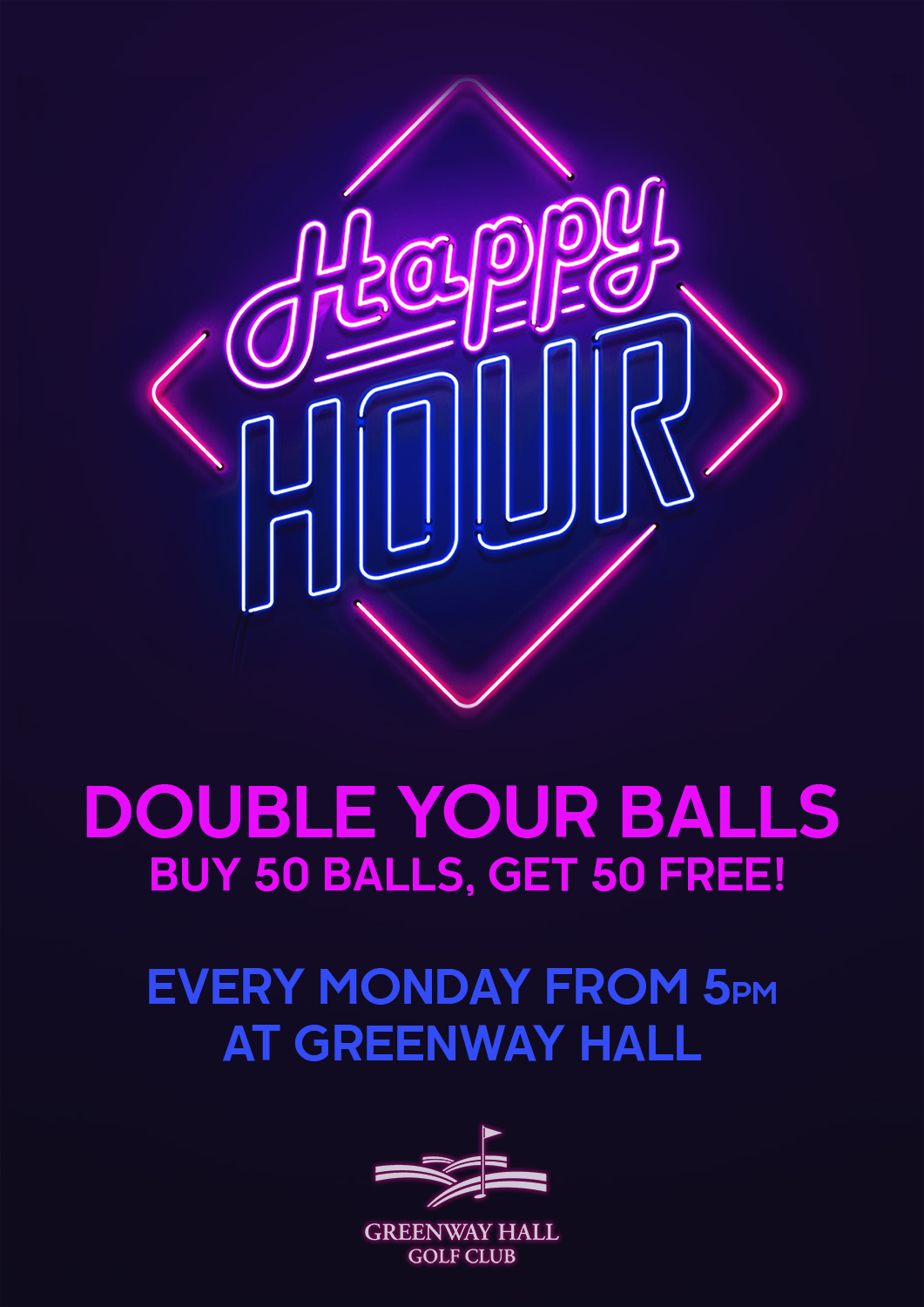 Happy Hour Every Monday at Greenway Hall