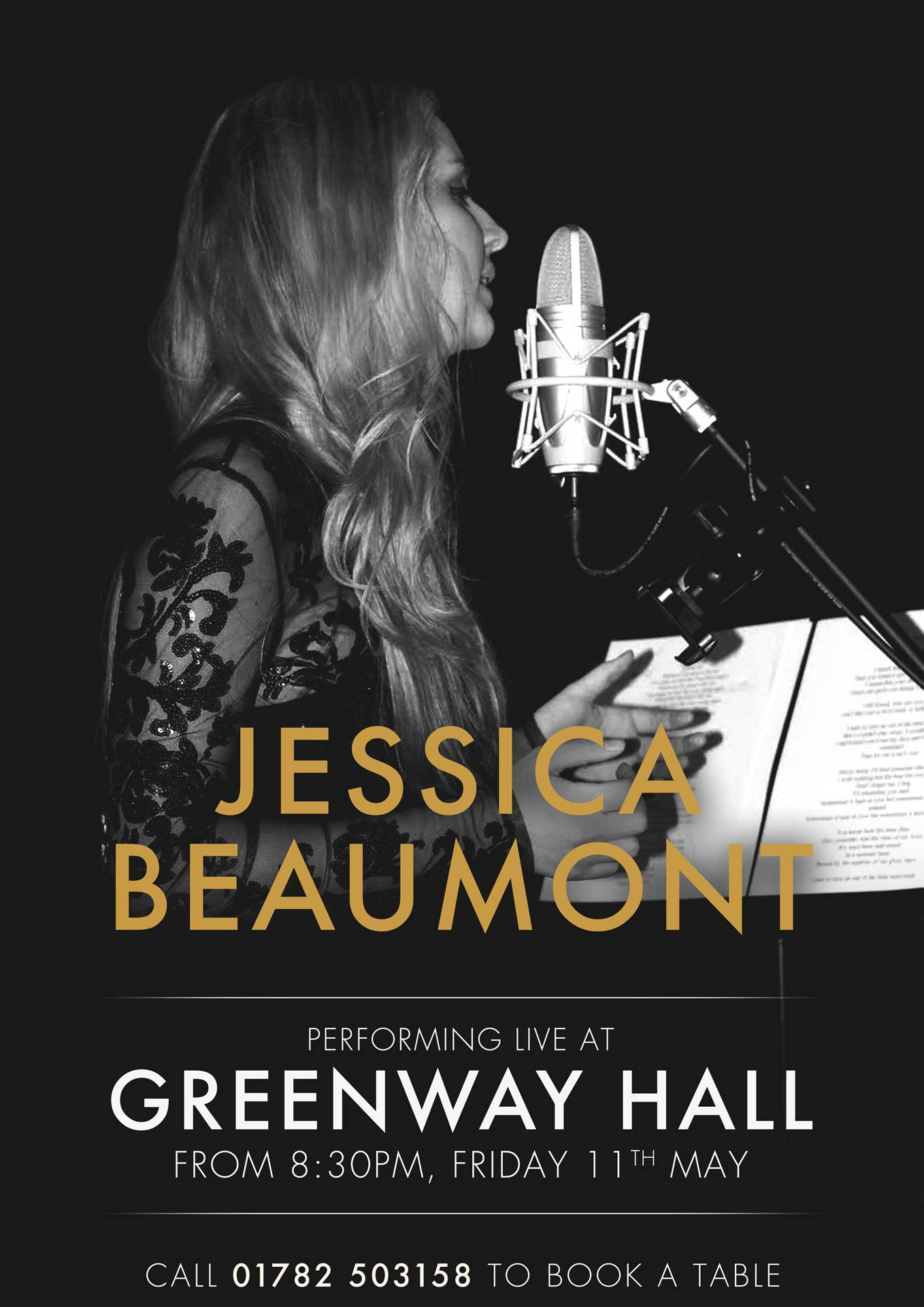 Jessica Beaumont Performing Live at Greenway Hall