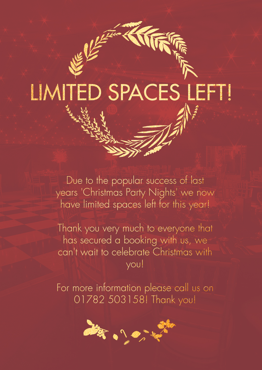 Limited availability on our Christmas Party Nights