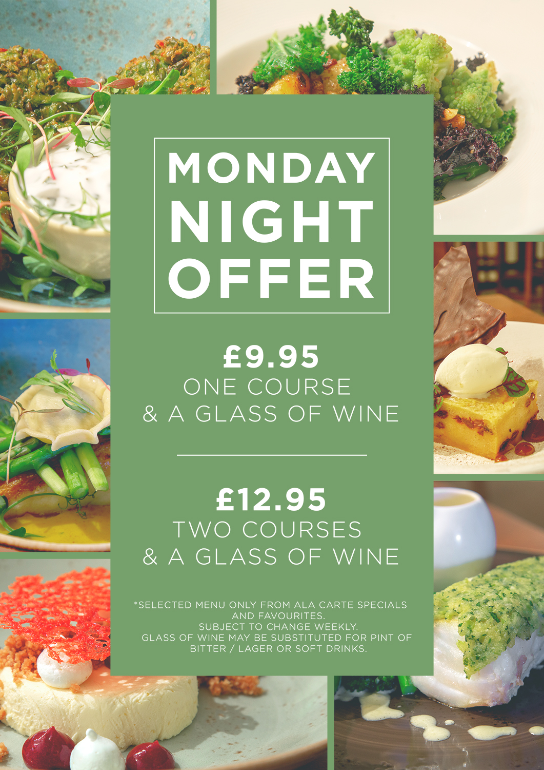 Join us every Monday for our fantastic offer....