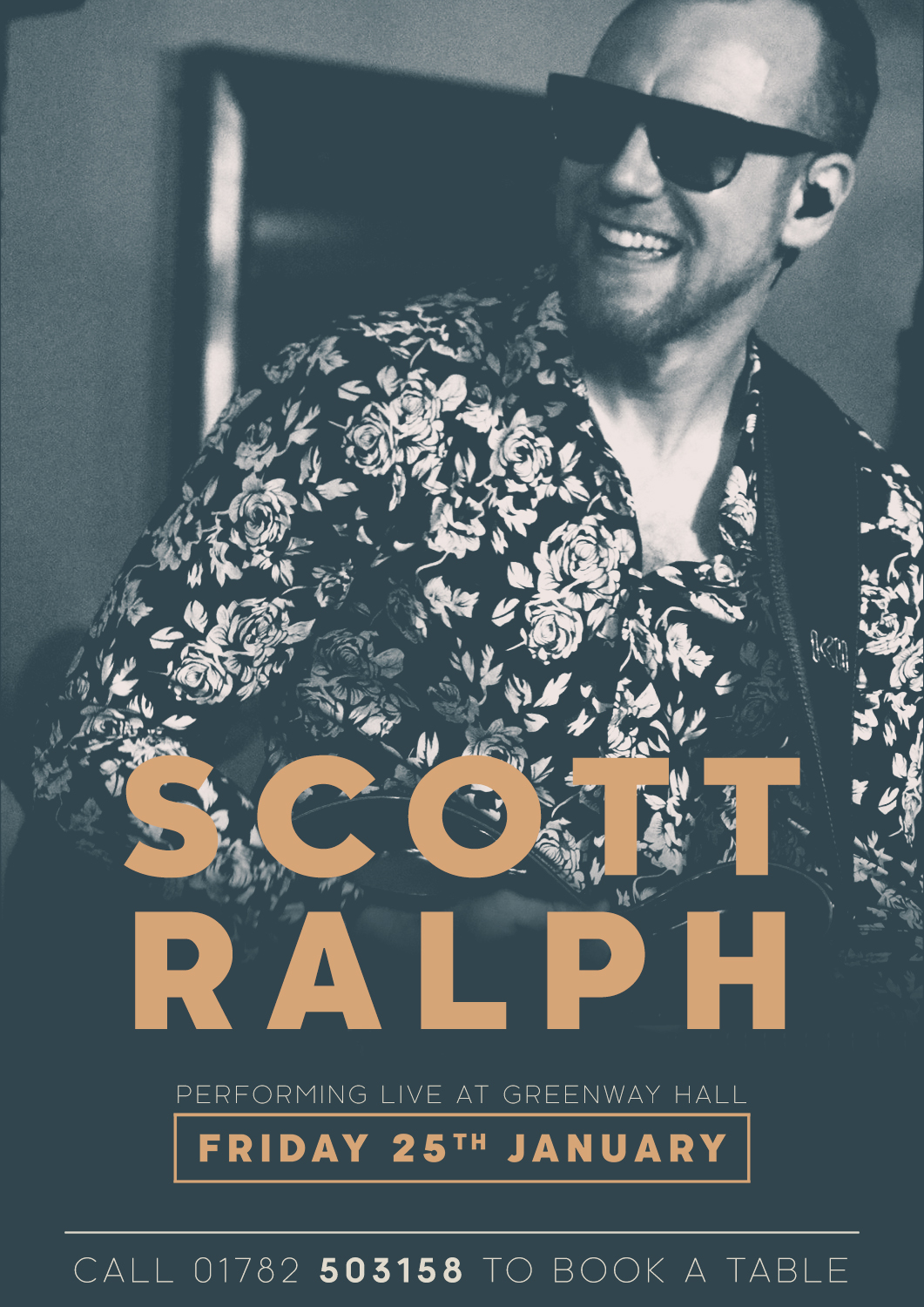 Come and see Scott Ralph perform live at Greenway Hall on Friday 25th January 2019.