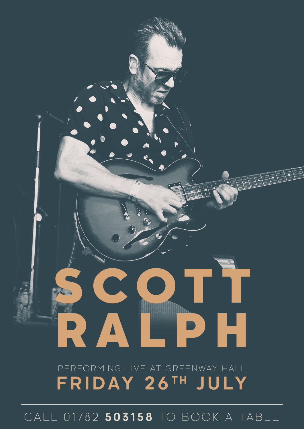 Come and see Scott Ralph perform live at Greenway Hall to book at table call 01782-503158 option 2