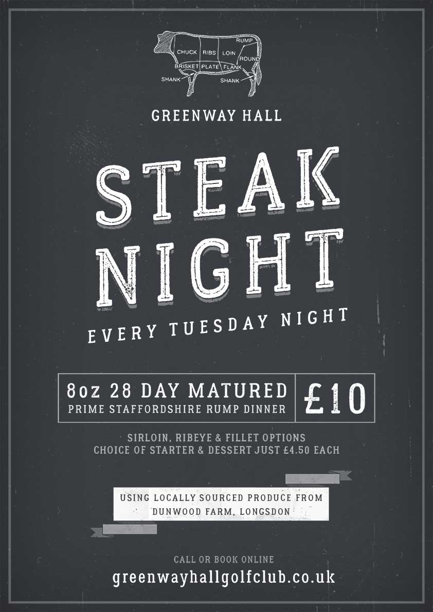 Come and join us for Steak Night every Tuesday...